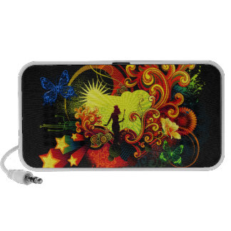 Butterfly Art 20 Doodle Laptop Speakers
