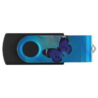 Butterfly Art Customizable USB Swivel Flash Drive