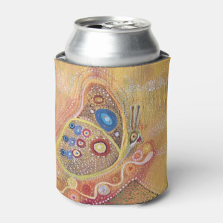 Butterfly Art Painting Custom Can Cooler