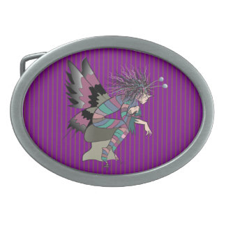 Butterfly Artistic Fantasy Fairy Unique Elf Cute Oval Belt Buckle