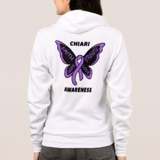 Butterfly/Awareness...Chiari Hoodie