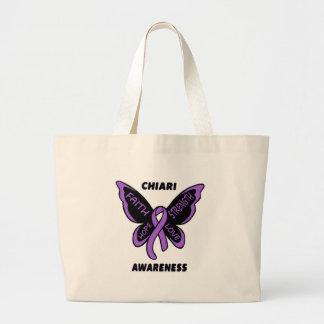 Butterfly/Awareness...Chiari Jumbo Tote Bag