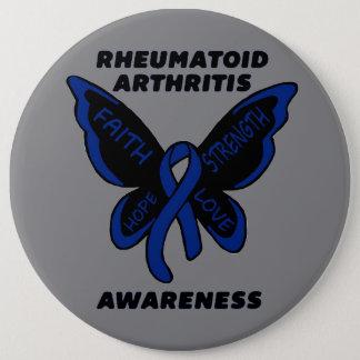 Butterfly/Awareness...Rheumatoid Arthritis 6 Cm Round Badge
