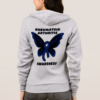 Butterfly/Awareness...Rheumatoid Arthritis Hoodie