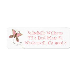 Butterfly Baby Shower Address Label