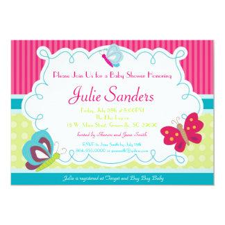 Butterfly Baby Shower Invitation, Butterflies Card