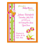 Butterfly & Baby Shower Postcard Invitation