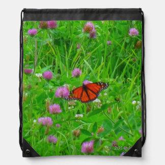 Butterfly Backpack-Monarch in Flight Drawstring Backpacks