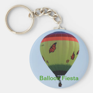 Butterfly Balloon Basic Round Button Key Ring