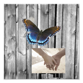 butterfly barnwood western country wedding photograph