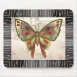 Butterfly bead print mouse pad