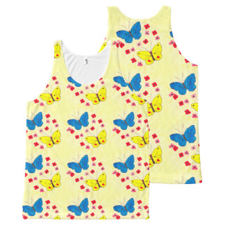 Butterfly Beauties All-Over Print Singlet