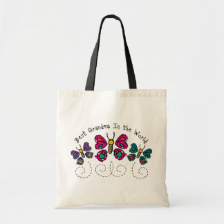 Butterfly Best Grandma Tote Bags