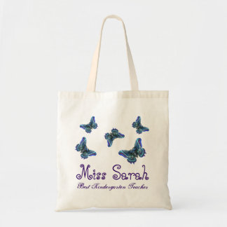 Butterfly Best Kindergarten Teacher Gift Tote Bag