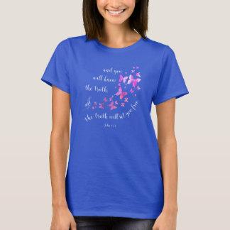 Butterfly Bible Verse Truth Set Free T-shirt