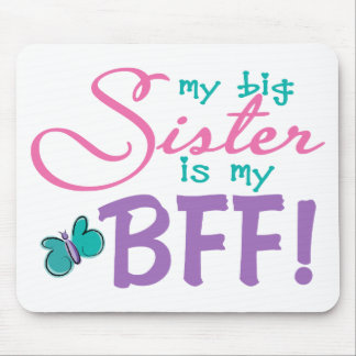 Butterfly Big Sister BFF Mouse Pad