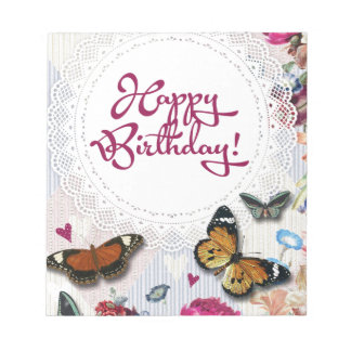 Butterfly Birthday Notepad