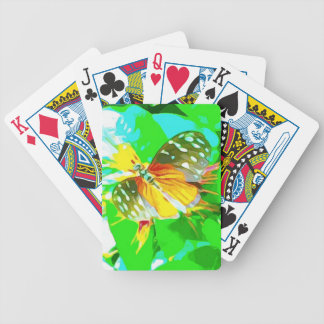 Butterfly Black Yellow White Spotted Bicycle Playing Cards