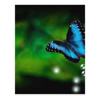 butterfly blue 21.5 cm x 28 cm flyer