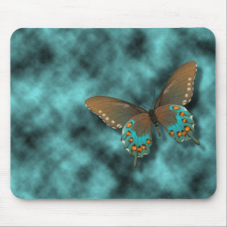 Butterfly: Blue and Brown Swallowtail Mouse Pad