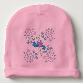 Butterfly Blue Baby Beanie