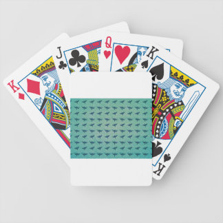 Butterfly blue bicycle playing cards