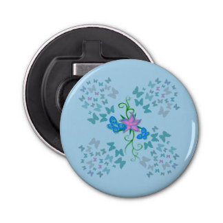 Butterfly Blue Bottle Opener