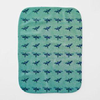 Butterfly blue burp cloth