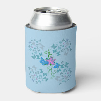 Butterfly Blue Can Cooler