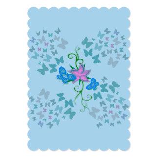 Butterfly Blue Card