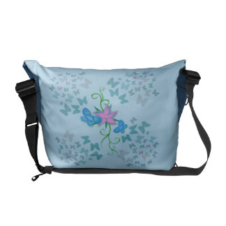 Butterfly Blue Courier Bag