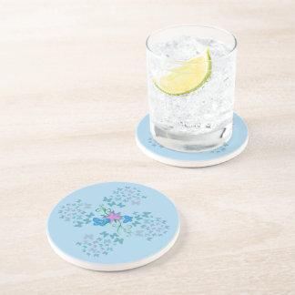 Butterfly Blue Drink Coaster