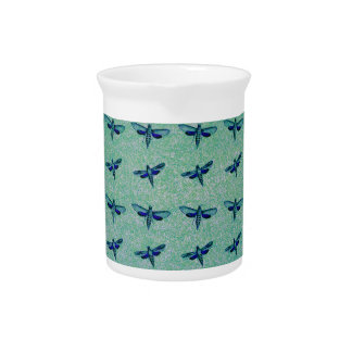 Butterfly blue drink pitcher