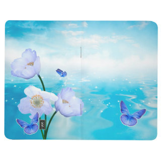 Butterfly Blue Flowers Blossoms Peace Love Destiny Journals