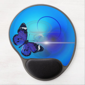 Butterfly Blue Gel Mousepad