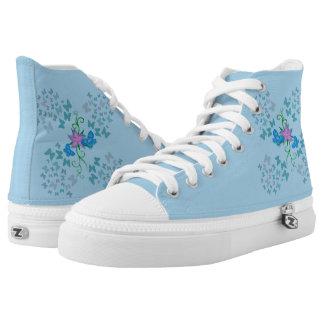 Butterfly Blue High Tops