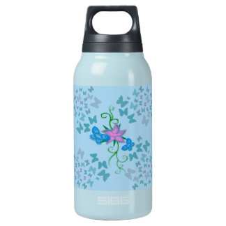 Butterfly Blue Insulated Water Bottle