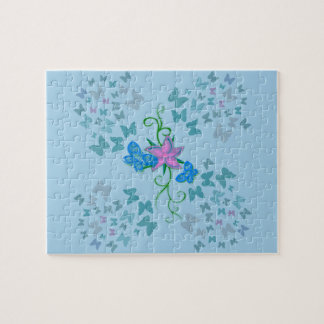 Butterfly Blue Jigsaw Puzzle