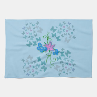 Butterfly Blue Kitchen Towel