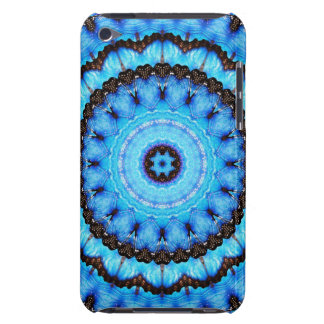 Butterfly Blue Mandala Barely There iPod Covers