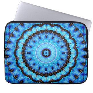 Butterfly Blue Mandala Laptop Sleeve
