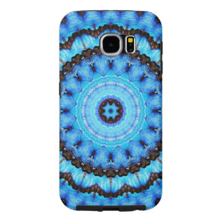 Butterfly Blue Mandala Samsung Galaxy S6 Cases