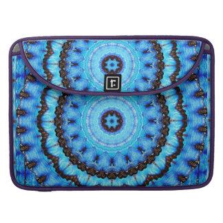 Butterfly Blue Mandala Sleeves For MacBooks