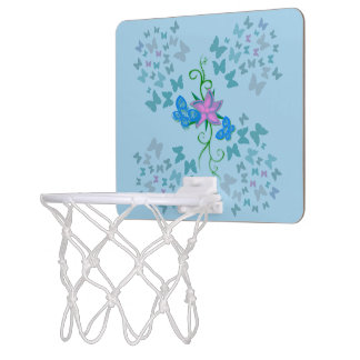 Butterfly Blue Mini Basketball Hoop
