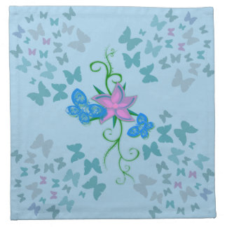Butterfly Blue Napkin