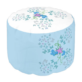 Butterfly Blue Pouf