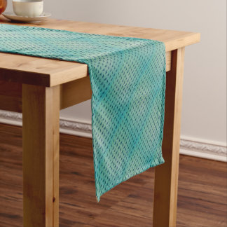 Butterfly blue short table runner