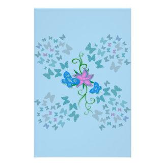 Butterfly Blue Stationery