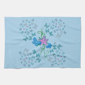 Butterfly Blue Tea Towel