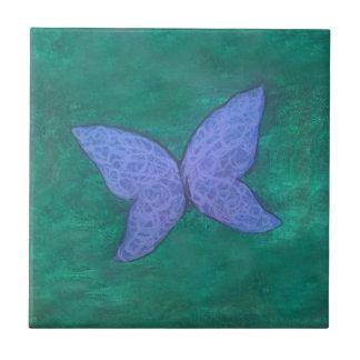 Butterfly   Blue Violet Purple Green Wings Tile